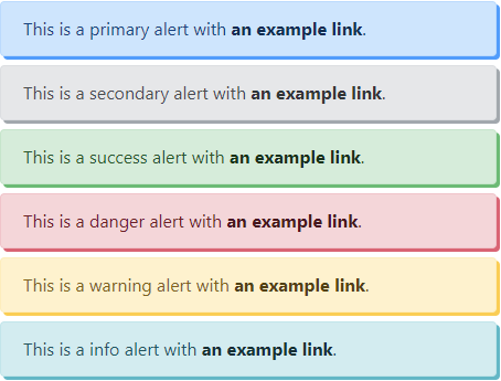 Default alerts with shadows