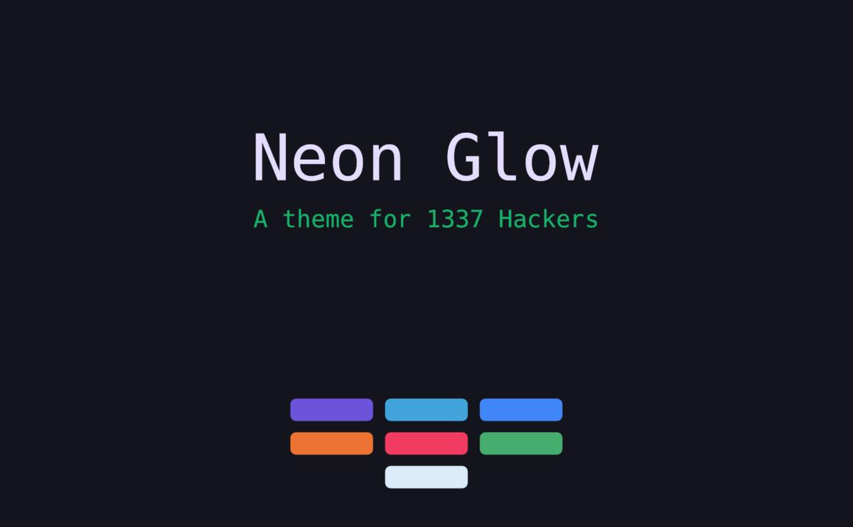 Neon Glow - Bootstrap Theme